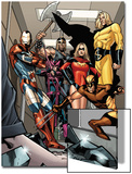 Dark X-Men No3 Group: Iron Patriot  Wolverine  Ms Marvel  Hawkeye  Ares and Sentry Fighting
