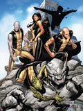 Young X-Men No10 Cover: Anole  Rockslide  Greymalkin  Dust  Mirage  Sunspot and Ink