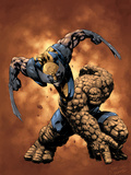 X-Men / Fantastic Four No4 Cover: Thing and Wolverine