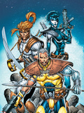 X-Force No6 Cover: Cable  Shatterstar and Domino