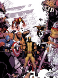 Wolverine & The X-Men No8 Cover: Wolverine  Captain America  Thing  Storm  Psylocke and Others