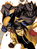 Wolverine and Jubilee No4 Cover: Jubilee  Wolverine  and Rockslide Charging