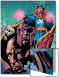 Excalibur No13 Cover: Dr Strange  Magneto and Professor X