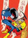 X-Statix No22 Cover: Captain America and The Anarchist Fighting and Shooting