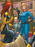X-Men: First Class No1 Group: Marvel Girl  Angel  Xavier  Charles and Invisible Woman Fighting