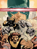 Young X-Men No3 Cover: Cyclops  Rockslide and Dust