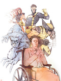 X-Men: Odd Men Out Cover: Xavier  Charles  Beast  Cyclops  Wolverine  Grey and Jean