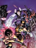 Astonishing X-Men No48 Cover: Karma  Wolverine  Iceman  Northstar  Gambit  and Warbird