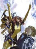 X-Men: First Class No1 Cover: Invisible Woman  Cyclops  Marvel Girl  Beast  Angel and Iceman