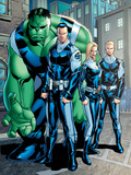 Exiles No95 Group: Doom  Victor Von  Human Torch  Invisible Woman and Hulk