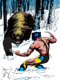 Classic X-Men No25 Cover: Wolverine Swinging