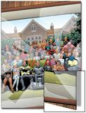 New X-Men No126 Cover: Professor X  Cyclops  Grey  Jean  Wolverine and Beast