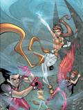 New X-Men No4 Cover: Icarus  Wind Dancer and Hellion