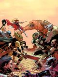 New Mutants No32 Cover: Moonstar Fighting