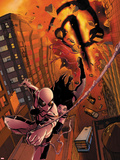 X-23 No13 Cover: Spider-Man and X-23 Swinging