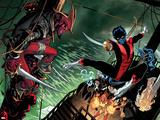 Amazing X-Men 1 Cover: Nightcrawler  Azazel  Storm  Northstar  Firestar  Wolverine  Iceman  Beast
