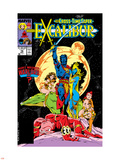 Excalibur No16 Cover: Nightcrawler  Phoenix  Shadowcat and Kymri