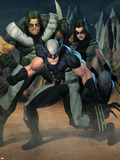 Cable No7 Group: Wolverine  X-23  Warpath and Wolfsbane