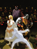 X-Men: Schism No3 Cover: Iceman  Colossus  Magneto  and Emma Frost