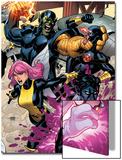 Secret Invasion: X-Men No2 Cover: Pixie  Nightcrawler and Cyclops