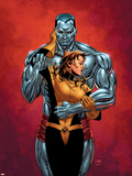 Astonishing X-Men No6 Cover: Colossus  Shadowcat  Pryde and Kitty