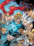 New X-Men No15 Group: Blob  Prodigy  Elixir  Wind Dancer and Surge Fighting
