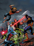 X-Men Forever 2 No8 Cover: Cyclops  Rogue  and Sabretooth Fighting
