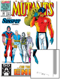 New Mutants No99 Cover: Cable  Sunspot  Warpath  Cannonball  Domino  Boom Boom and New Mutants