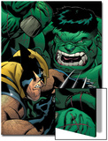 World War Hulk: X-Men No2 Cover: Wolverine and Hulk