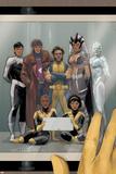 Astonishing X-Men 68 Cover: Wolverine  Gambit  Warbird  Iceman  Northstar  Reyes  Cecilia  Karma