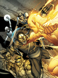 Daken: Dark Wolverine No4 Cover: Daken  Thing  Human Torch  Mr Fantastic  and Invisible Woman