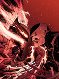 Daken: Dark Wolverine No2 Cover: Daken and Wolverine Fighting