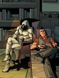 Daken: Dark Wolverine No13 Cover: Daken and Moon Knight Sitting