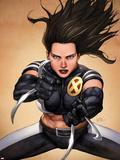 X-23 No4 Cover: X-23 Posing