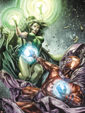 X-Men Legacy No255 Cover: Polaris and Magneto Fighting