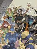 Uncanny X-Men: First Class No4 Cover: Wolverine  Cyclops  Phoenix  Storm and Nightcrawler