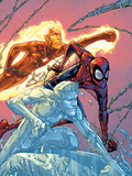 X-Men: First Class No16 Cover: Iceman  Human Torch and Spider-Man