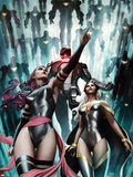 Uncanny X-Force No191 Cover: Sabretooth  Jean Grey  and Wolverine