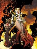 New Mutants Forever No4 Cover: Magik Posing