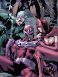Magnetro: Not a Hero No2 Cover: Magneto  Scarlet Witch  and Quicksilver Sitting