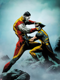 Wolverine No4 Cover: Wolverine and Colossus Fighting