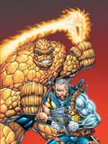X-Force No5 Cover: Cable and Thing