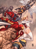 X-Men: To Serve & Protect No2 Cover: Thing  Wolverine  Iron Man  Spider-Man  Emma Frost & Others