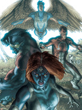 Dark X-Men No1 Cover: Mystique  Dark Beast and Omega