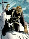 Wolverine No20: Sabretooth Riding on top of a Plane