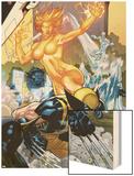 Secret Invasion: X-Men No4 Cover: Wolverine and Phoenix