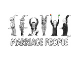Marriage People - Cartoon