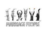 Marriage People - Cartoon