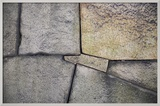 A Detail of the Stone Wall at Osaka Castle