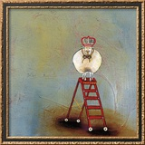 Royal Sheep on Ladder